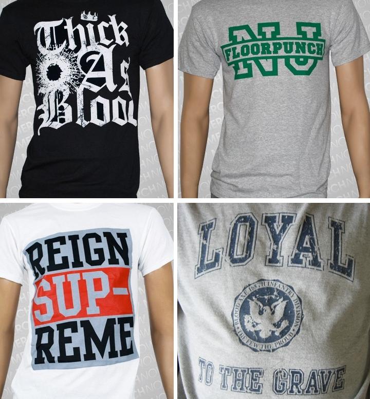 hardcore punk typography t-shirts