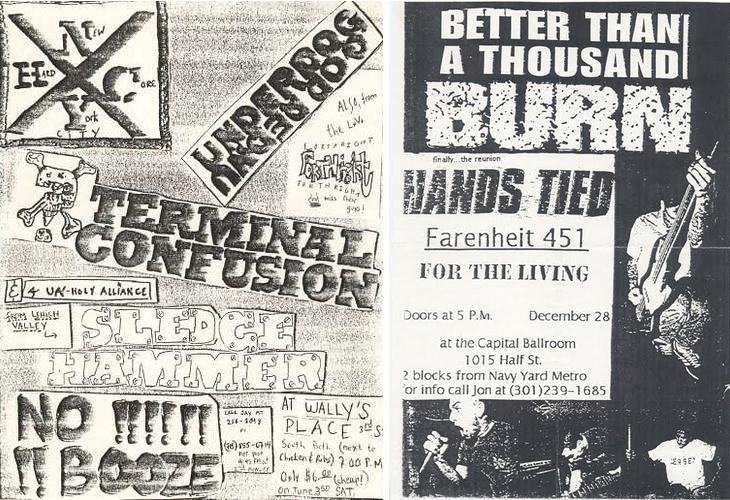 hardcore punk typography flyers