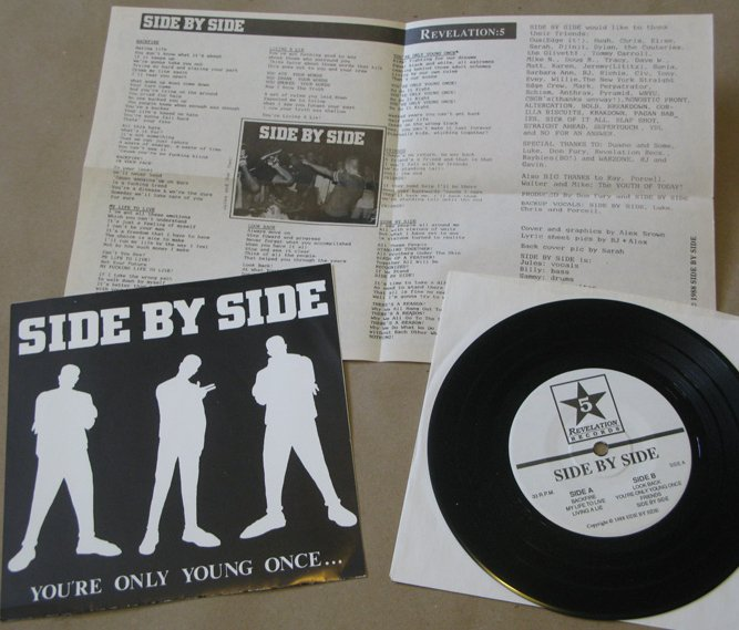 hardcore punk typography vinyl side by side