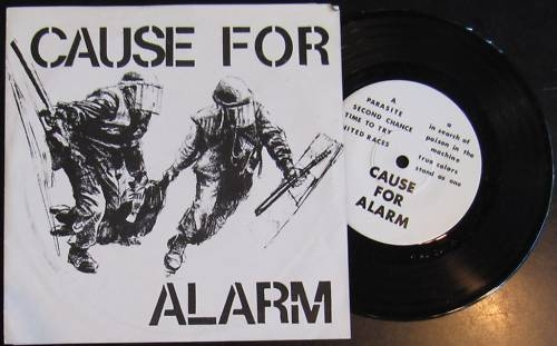 hardcore punk typography vinyl cause for alarm